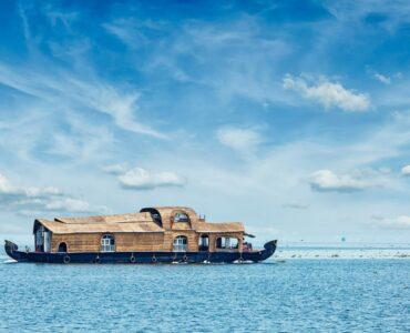 Houseboat on Lake Vembenad, India